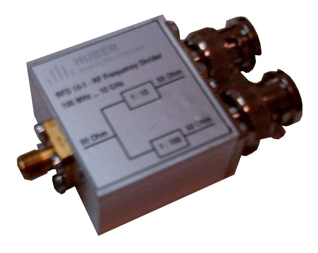 RFD 10-1 - RF Frequency Divider - f:10 und 1:100 - DC     10GHz